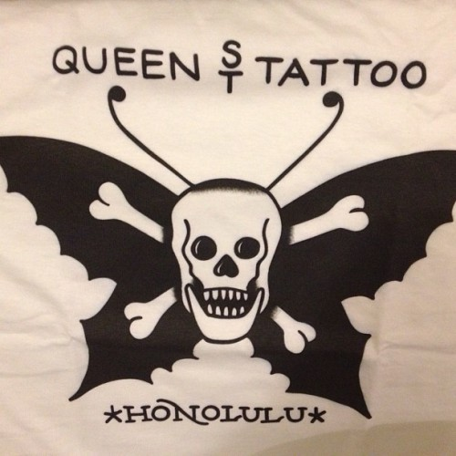 shonnyc:  #Super #limited #queenstreettattoo #tshirts #forsale $30 #shipped $20 #local #pickup #paypal shonlindauer@gmail.com ONLY A FEW LEFT!!! #butterfly #mariahcarie #china #town #japan (at Queen Street Tattoo )