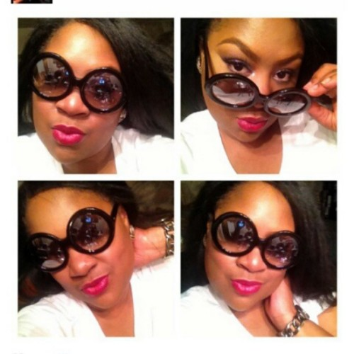 @snatchedbyp in our Half-Tinted #Sunglasses. #retrocitydivas