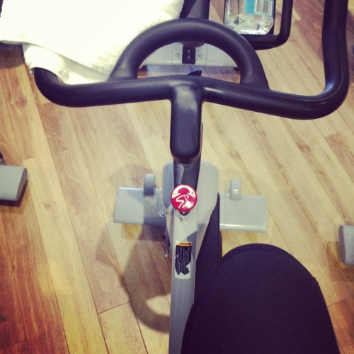 lovehealthlive:  volumeun:  About to do my first spin class. Sounds a bit stupid but the girl in front of me is so fucking fit if I start to feel like dying I'm just going to use her ass and legs as motivation haha  <3!!!