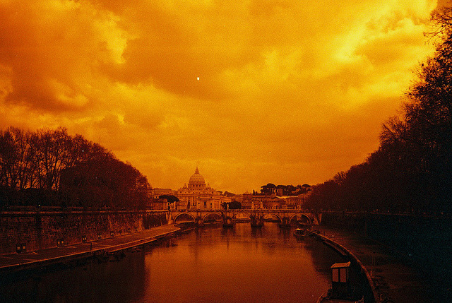 | ♕ |  Tivere afterglow - winter in Rome  | by © Mariana Silva