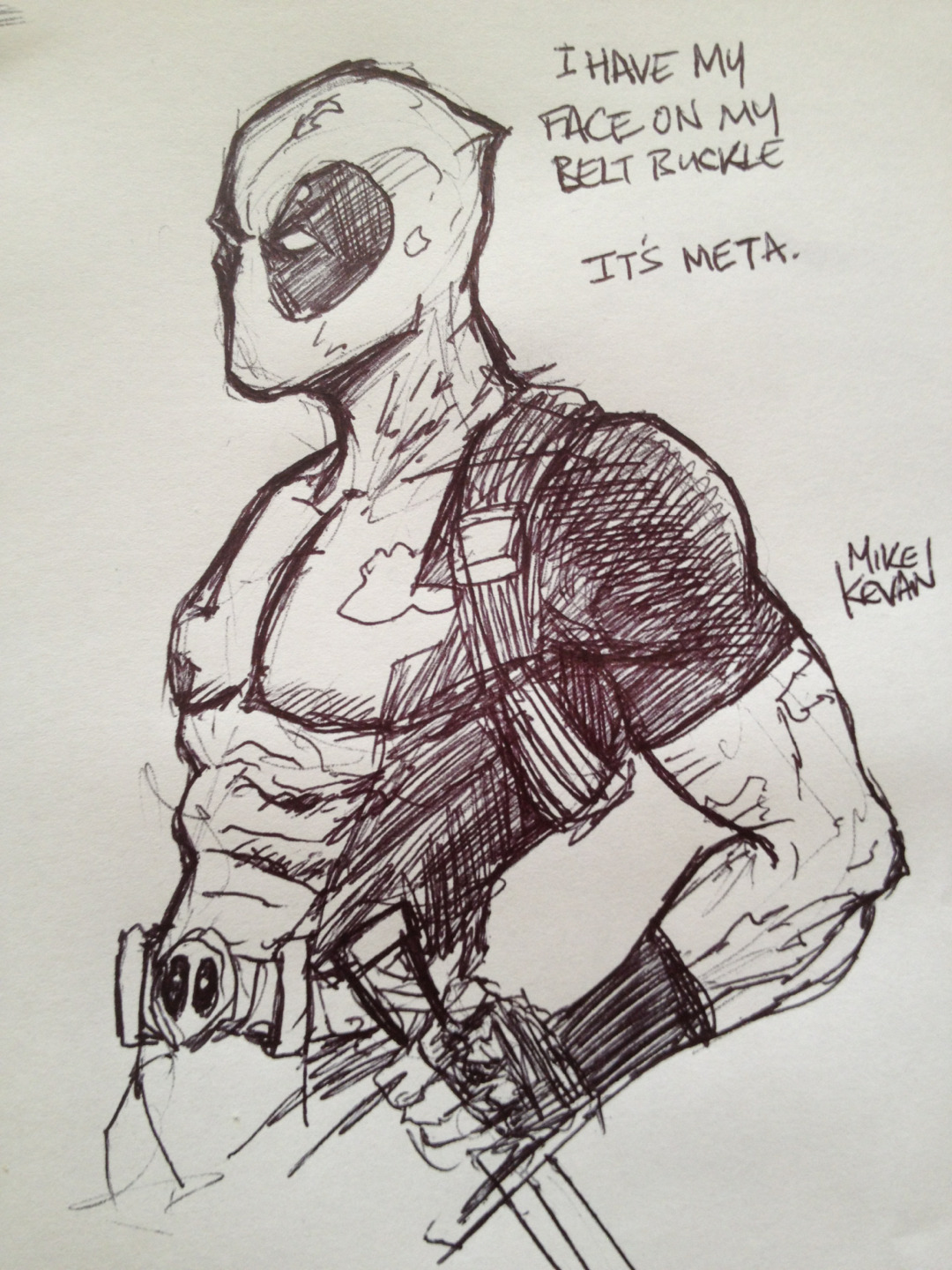 curiousintent:  Deadpool sketch.