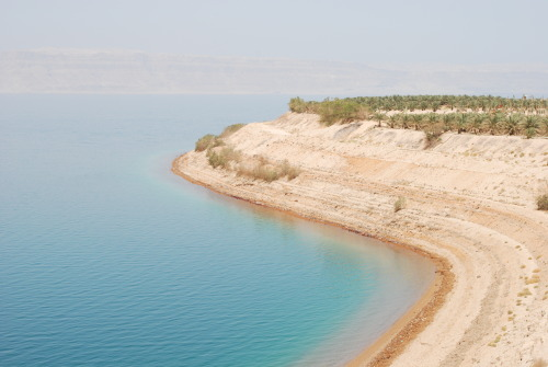 The coast of the Dead Sea, Jordan