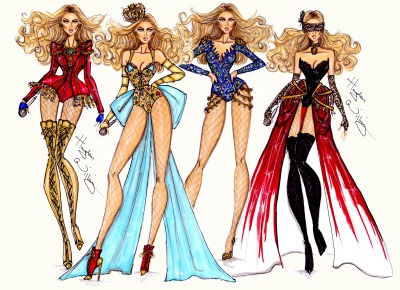 haydenwilliamsillustrations:  Beyoncé Mrs. Carter World Tour collection by Hayden Williams
