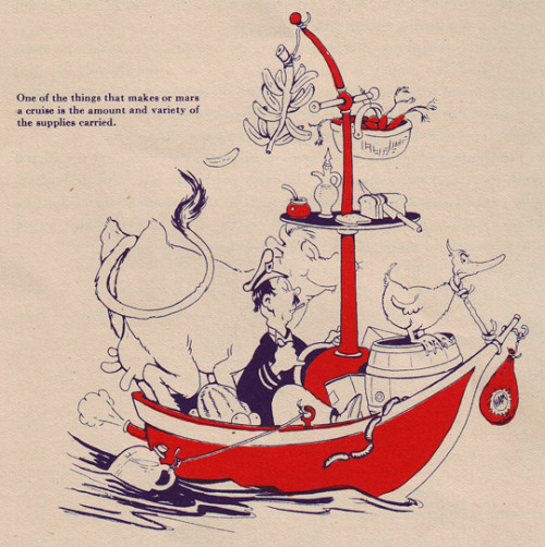 """ Cruise Preparation ""  …. Early Dr Seuss Illustration [1935]"