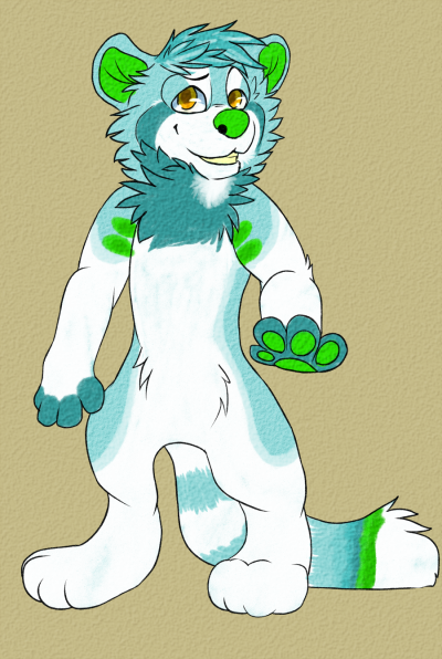 danicaiifornia:  Fursuit concept for Conspiracy. c: She's a genderbent blue panda with a twist and no being blue is not the twist