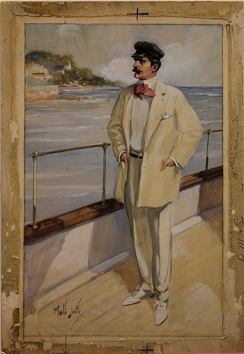 """The Yachtsman"", Illustration by Martin Justice via Clars Auction Gallery"