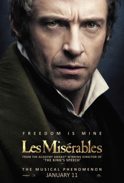 Movies I've Seen in 2012 204.  Les Miserables (2012) Starring:  Hugh Jackman, Russell Crowe, Anne Hathaway  Director:  Tom Hooper Rating: ★★★★/5