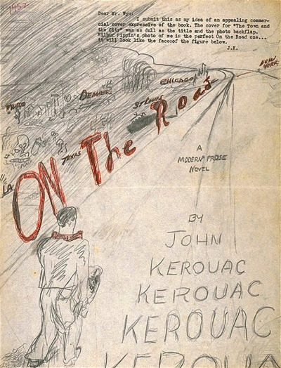 COVER COUNTDOWN: Check out Kerouac's hand-drawn artwork for #OnTheRoad, opening in New York and LA in FOUR DAYS.