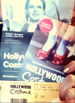Today I got to explore the wonderful world of Hollywood Costume at the ACMI in Melbourne. It was so perfect and nostalgia hit me like a tonne of bricks. The garments were perfect and it was done so well. For $15.50 I think I'll definately go a couple more times before it closes down. No photos allowed, but I wish I could show you guys all the beautiful clothing!! Worth it if you're a big costume buff or Hollywood fan.  xx