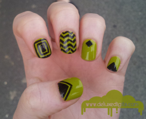 Geometric nubbin nails!