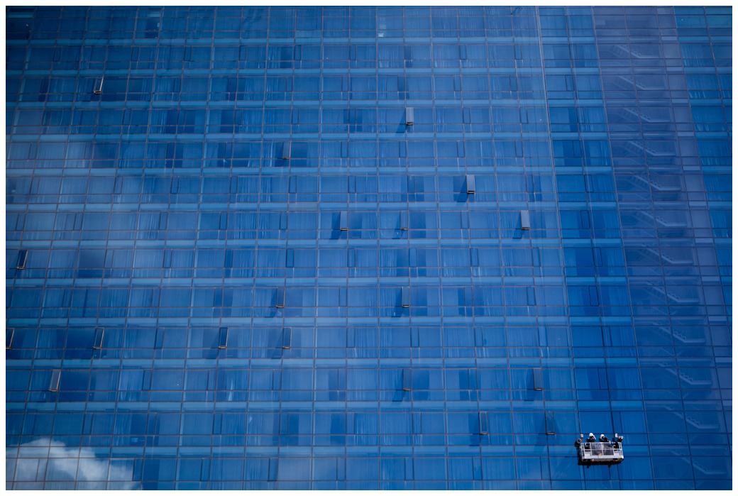 Washing Windows - Westin Grand, Cape Town
