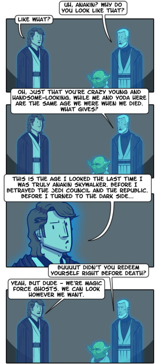 "dorkly:  The True Power of Force Ghosts  I CAN'T!!! X""DDD"