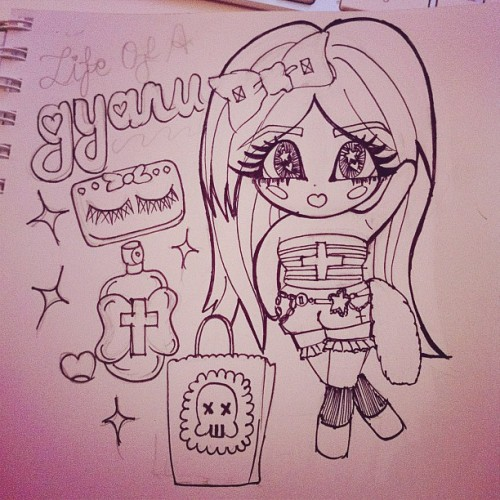 #gyaru #pinksugarichigo #drawing #sketch #doodle #girly #cartoon