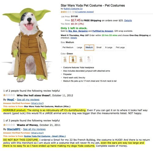 collegehumor:    Angry Amazon Reviews of Adorable Dog Costumes Angry these reviewers are. Even more we have.