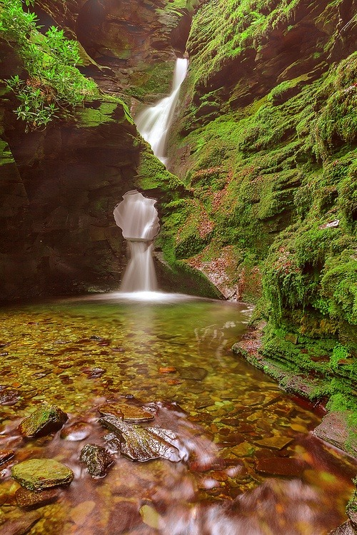 St Nectan's Glen, Tintagel, Cornwall, England photo via entremis