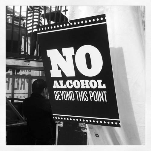 NO Alcohol #sign #newyork #latergram