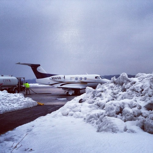 Winter operations… (at Monroe County Airport)