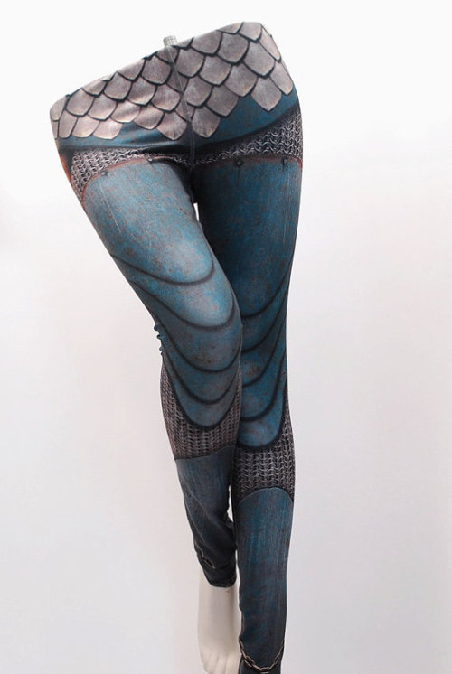 Chainmail and Armor printed leggings by MITMUNK [x]