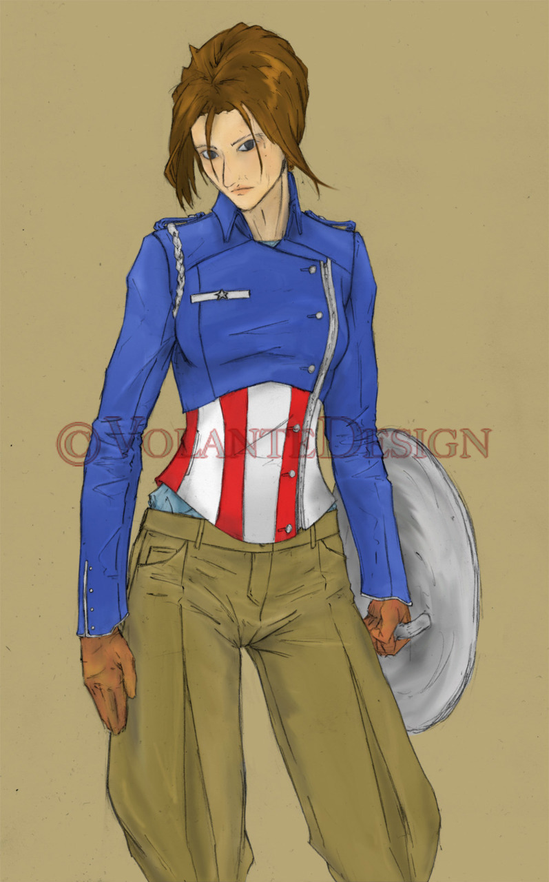 Captain America, as a woman.