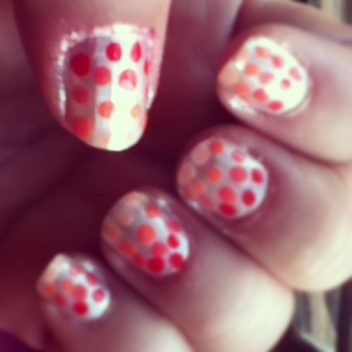 Of course not perfect but I'm proud if myself!! :D  #nails