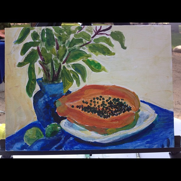 Paint papaya, eat papaya.