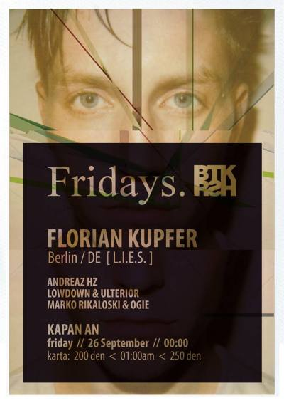 Florian Kupfer playing at Kapan An (Skopje) on Friday!https://www.facebook.com/events/261960094002994/
