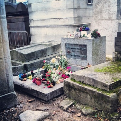 seanfindley:  we went to jim morrison's grave on christmas