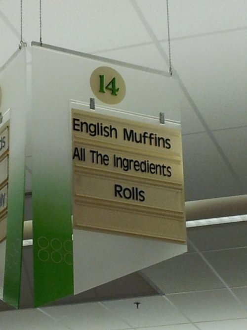 Store Has Aisle For All the Ingredients! One day, Rolls, you will reach the status of ingredient. But today is not that day.