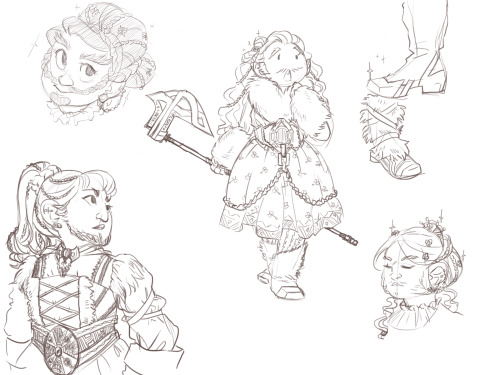 Dwarf lolita, guys. Think of the potential. What could you call it though? Dwarf Kei? Khazad Pretty? I don't know, but it would be AWESOME.