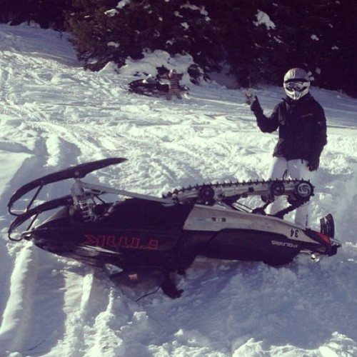 My first snowmobiling trip