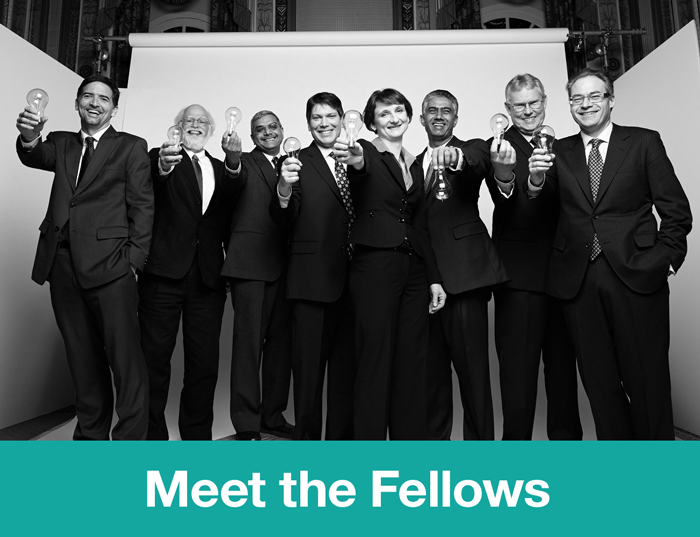 They've been called brainiac, genius, wizard. And now, IBM Fellow. Join our Tumblr-style toast to the newly minted class of '13, on the 50th anniversary of the Fellows program. Launched in 1963, just 246 individuals have earned the title of IBM Fellow for their achievements in technology, science, engineering and research. It's quite the elite group, with a unique role—to lead IBMers as they tackle the world's most challenging problems and continue laying the foundation for a smarter planet.