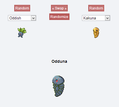 I checked out the Pokemon Fusion thing that been floating around,to take a break form con prep and… Look how happy he is!