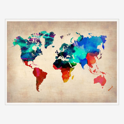 World Map Print Created by the watercolor masters at NAXART