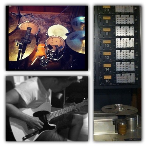 #instacollage grovestudios 1st day down! Couldn't have gotten much better! #love #adventuresinwonderland   @mitchelluther
