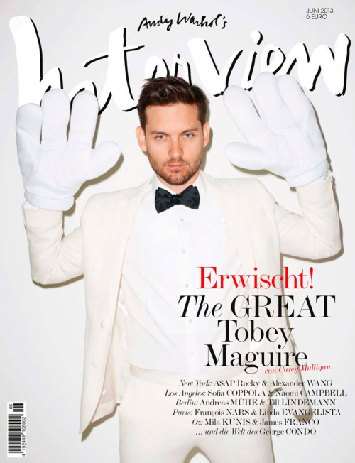homotography:  Tobey Maguire by Terry Richardson for Interview Germany, June 2013