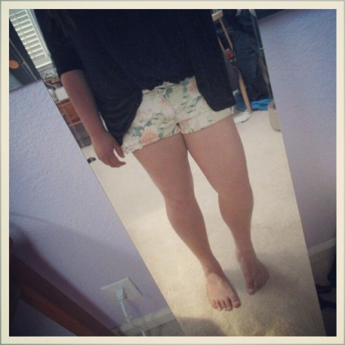 Okay, so I don't have a thigh gap.. but I'm working on it! :)