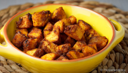 Ghanaian Kelewele - Spiced Plantain Recipe: http://www.pepperandstew.co.uk/?p=1742