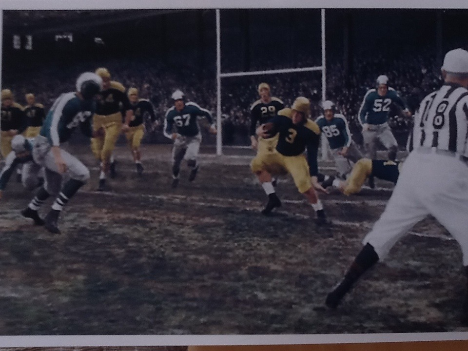 A shot from the 1943 Steagles vs. Packers game. Grandaddy is number 52.