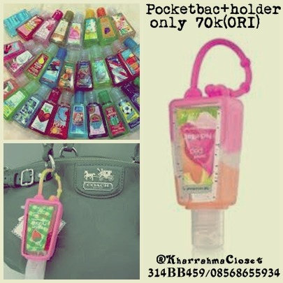 #POCKETBAC+HOLDER(ORIGINAL)# Price : only 70.000 FIXED PRICE (shipping charge is not included) Interested? Text me :08568655934. PIN:314BB459. @KharrahmaCloset *Can choose the color as desired *For further information contact us *Goods that have been purchased or have been sent will not be refunded, we will examine the goods before shipping I'm from Indonesia