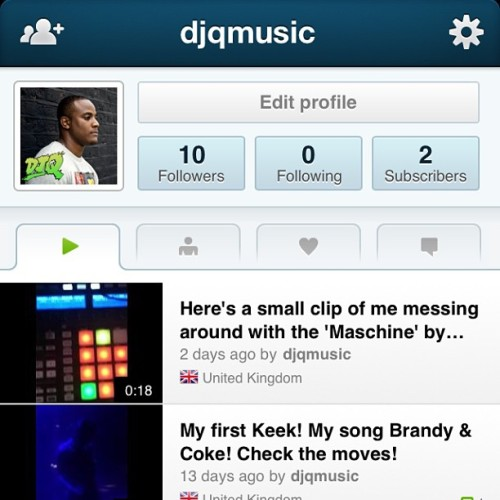 I thought I'd see what the keek hype was all about!  Username: djqmusic