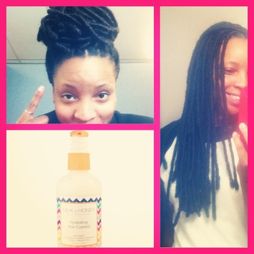 shescomplex:  milkandhoneyhair:  Blogger Jai and her faux loc protective style. Visit the MILK + HONEY blog for the tutorial! #naturalhair #naturallove #naturalista #twists #twistout #braids #braidout #longhairdontcare #twa #coil #naturalhairdaily #teamnatural #jointhemovement #naturalhairproducts #milkandhoneyhair #afro #kinky #locs #fauxlocs #marleyhair #tutorial #protectivestyling #ltps #locnation  That's me!!!! And not so quiet is kept, in the next few weeks we are about to role out one of the BEST promotions a natural could ever dream of so stayed tuned and follow us:Milkandhoneyhair.com/blogMilkandhoneyhair.com - hair productStay tuned your mane will thank you!!!