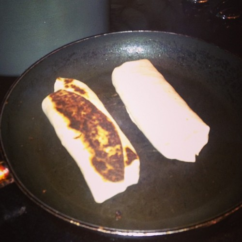 I burnt my lean ground turkey , kale, egg white and feta burrito! ;( good night!