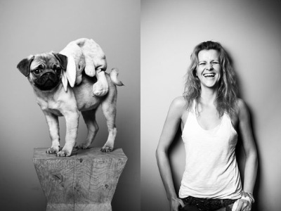 Your Pet and You by Tobias Lang Simple vignetted B&W portraits of pets & their owners, side-by-side.