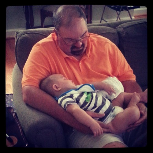 Napping with granddaddy