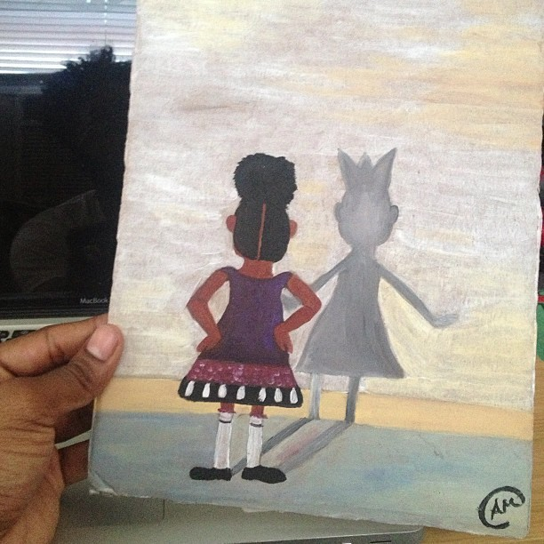 Just received this powerful painting from the amazing & talented @amarielle. To me this symbolizes not letting things hold you back and let your crown(greatness) shine. What are your thoughts about this painting? www.etsy.com/shop/artbyamarielle #QueensInspireKings #KingsInspireQueens #crown #King #Queen #art #artbyamarielle #kingsruletogether #KRT