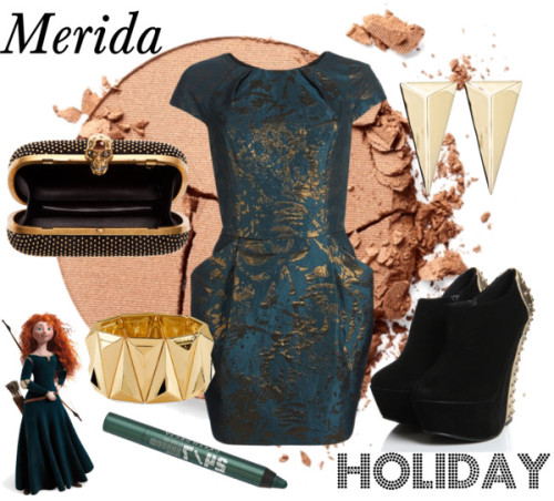 Merida Holiday by survivingtwentytwelve featuring silver makeup