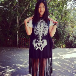 The lovely bones #dress #fringes #style #fashion #bones #ribs #pelvis #hip_bones #iron_fist #brand #clothing