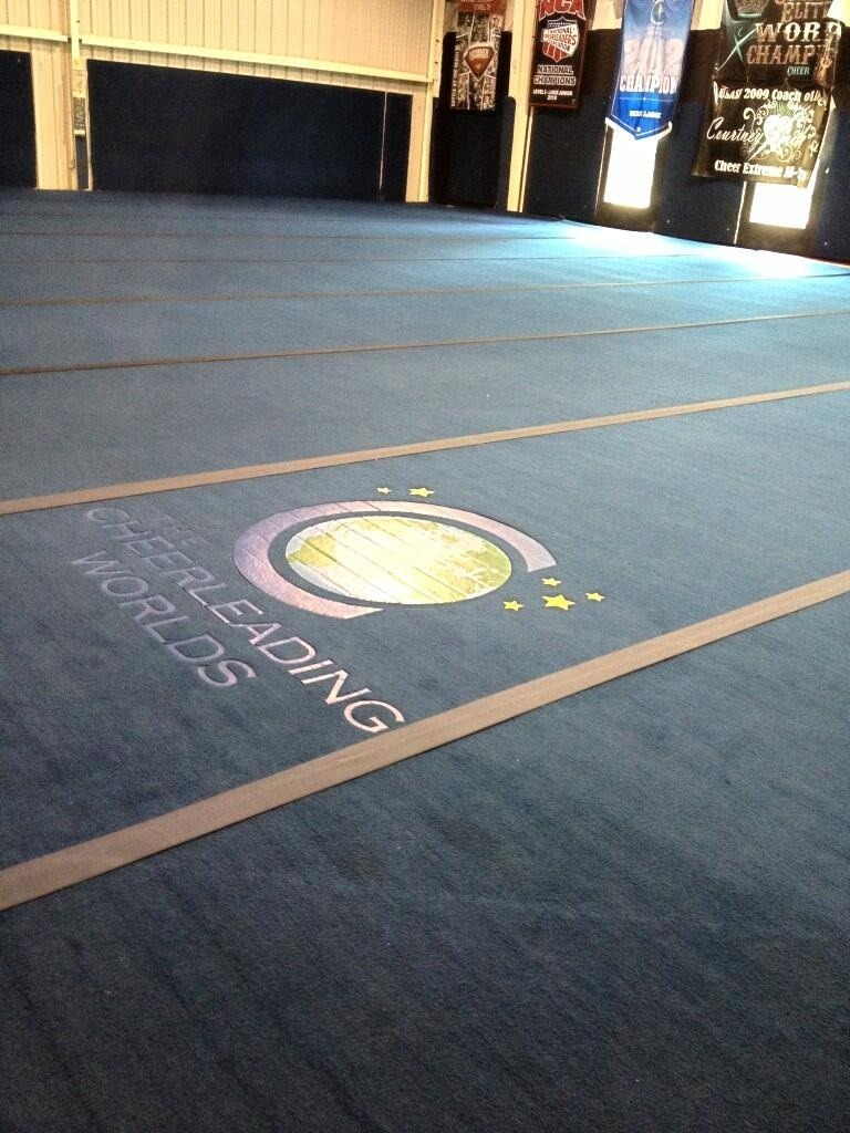 cheerleadingproblems:  In case y'all didn't know, CEA bought the Worlds floor..Nbd.
