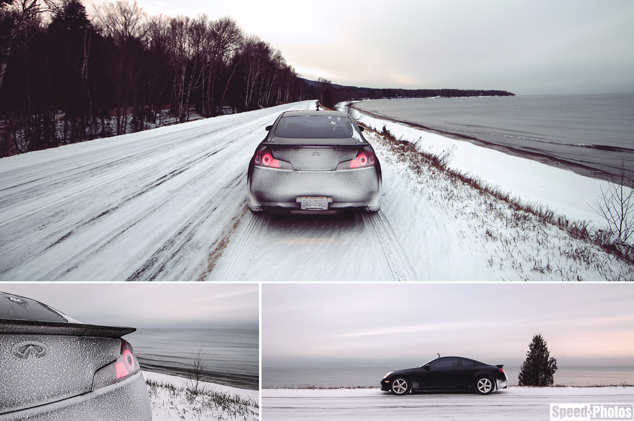 speedphotos:  Out for some winter driving along Lake Superior