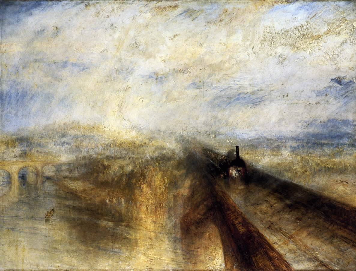 Joseph Mallord William Turner, Rain, Steam and Speed- The Great Western Railway 1844